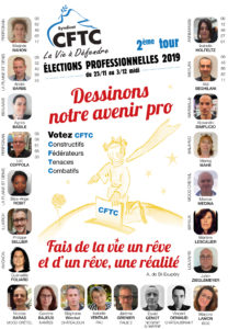 Elections CSE Générale de Téléphone 2ème tour du 25 novembre (à partir de 10H00 ) au 03 décembre 2019 (jusqu'à 12H00).